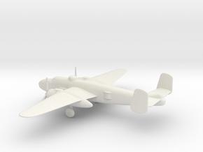 North American B-25J Mitchell in White Natural Versatile Plastic: 1:160 - N