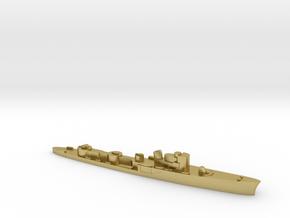 Italian Ciclone WW2 torpedo boat 1:2400 in Natural Brass