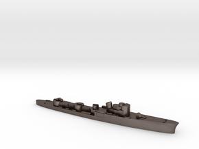 Italian Ciclone WW2 torpedo boat 1:3000 in Polished Bronzed-Silver Steel