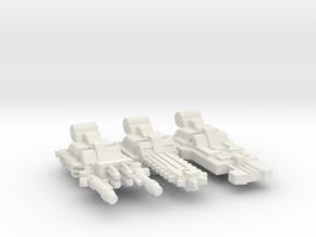 Bowpipe / Caliburn Weapons Set in White Natural Versatile Plastic: Medium