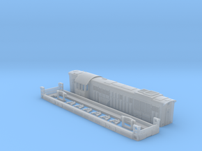 Chme 3 104mm long diesel locomotive ussr in Smoothest Fine Detail Plastic