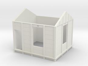HO Gilmore Signal Box Walls in White Natural Versatile Plastic