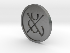 Seal of Mars Coin in Natural Silver
