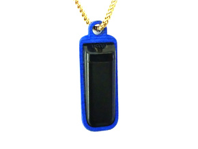 Pendant or Keychain Holder for Fitbit Flex in Blue Strong & Flexible Polished