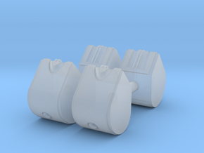 1/64th Set of four 31.5 gallon DEF Urea tanks in Smooth Fine Detail Plastic