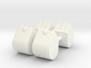1/50th Set of Four 31.5 gallon DEF Urea Tanks in White Processed Versatile Plastic