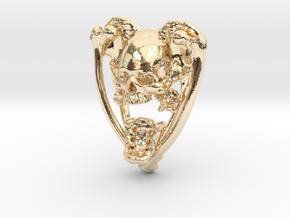 Planchette Bone Pendant in 14k Gold Plated Brass