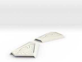 Mysterio buckles in White Natural Versatile Plastic