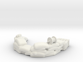 Sandbag Emplacement 1/48 in White Natural Versatile Plastic