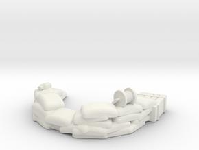 Sandbag Emplacement 1/43 in White Natural Versatile Plastic