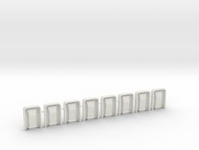 EC135 Door Hardware 1/6 (8) in White Natural Versatile Plastic