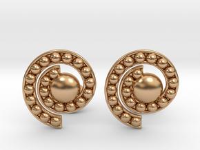 Nature Spiral Cufflinks in Polished Bronze
