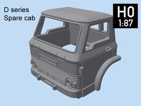D Series Spare Cab H0 scale in Smooth Fine Detail Plastic