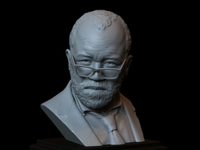 Bernard Lowe (Jeffrey Wright) from Westworld HBO in White Natural Versatile Plastic
