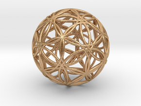 """Icosasphere v2 1.25"""" in Natural Bronze"""
