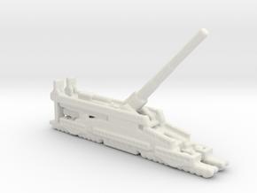 Schwerer Gustav railway artillery 80cm aa 5cm  in White Natural Versatile Plastic