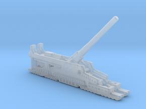 Schwerer Gustav railway artillery 80cm aa 5cm  in Smooth Fine Detail Plastic