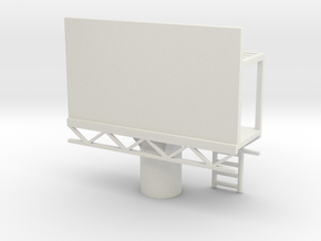 Billboard 1/76 in White Natural Versatile Plastic