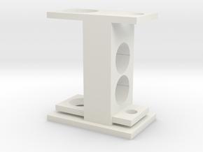 Custom Magnetic Separator Base in White Natural Versatile Plastic
