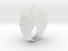 Double Crystal Ring Size 8 in Smooth Fine Detail Plastic