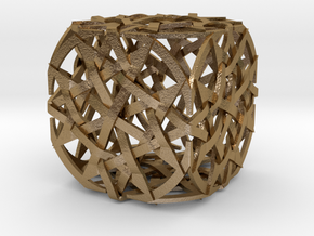 The Quantum Cube in Polished Gold Steel