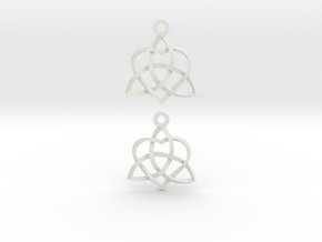 Infinity Love Earrings-Twisted in White Natural Versatile Plastic