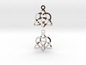 Infinity Love Earrings in Rhodium Plated Brass