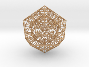 Sierpinski Icosahedral Prism in Natural Bronze