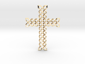 Knots Cross in 14k Gold Plated Brass
