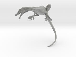 Compy dinosaur desktop figurine in Metallic Plastic