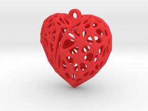 Broken Heart Earring (Small01) in Red Processed Versatile Plastic