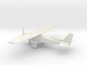 1/160 Scale Cessna 152 in White Natural Versatile Plastic