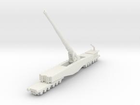 Krupp K5 28cm Leopold railway artillery 1/285 6mm in White Natural Versatile Plastic