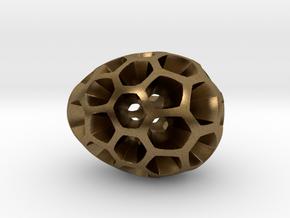 Mosaic Egg #2 in Raw Bronze