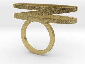 HOOLA_HOOP_ANEL_DIAMETER_16.5_MM_TRES_ELIPSES in Natural Brass