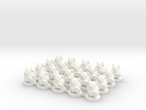 6mm - Pigmen with flamer x 20 in White Processed Versatile Plastic