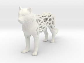 tiger-voronoi in White Natural Versatile Plastic