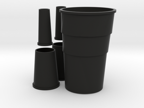 1/96 scale Nansen Stacks Set in Black Natural Versatile Plastic