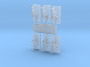 HO Scale Casket & Pallbearers in Smooth Fine Detail Plastic
