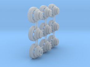 1/48th Puma Wheels in Smooth Fine Detail Plastic