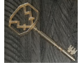 Vision Key in Polished Bronzed-Silver Steel