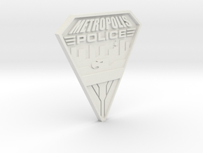 Replica Metropolis PD badge in White Natural Versatile Plastic