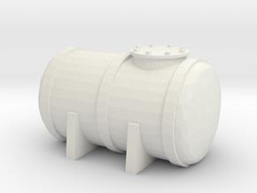 Petrol Tank 1/48 in White Natural Versatile Plastic