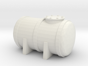 Petrol Tank 1/43 in White Natural Versatile Plastic