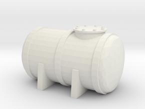 Petrol Tank 1/43 in White Natural Versatile Plastic