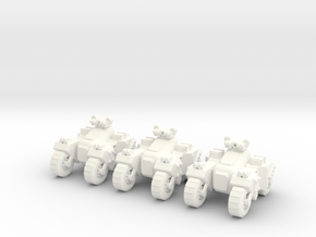 6mm - Assault Buggy  in White Processed Versatile Plastic
