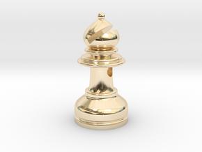 MILOSAURUS Jewelry Staunton Chess Bishop Pendant in 14k Gold Plated Brass