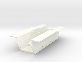 Kettenkrad BOTTOM  in White Processed Versatile Plastic
