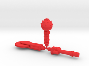 Repto Weapons in Red Processed Versatile Plastic