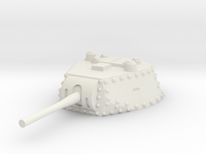 M13 40 Turret 1/48 in White Natural Versatile Plastic